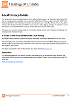 Link to download Local History Guide Guide