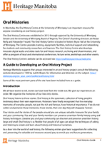Link to download Oral Histories Guide