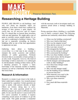 Link to download Researching an Historic Building